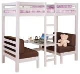 Loft Bed With Convertible Table