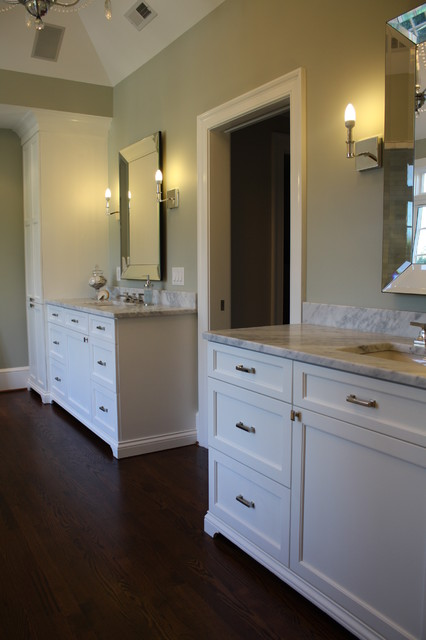 Houzz Mirrors Matching His And Her Master Bath Vanities And Towers