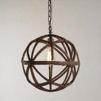 Twig Sphere Chandelier or Pendant Light - Rustic ...