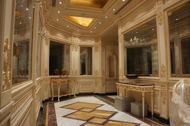 Luxury Marble Floor Design In Hall Way