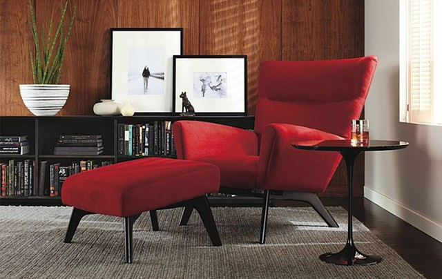Boden Chair & Ottoman Room By R&B - Modern - Living Room - Other