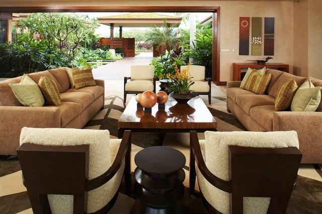 Hawaiian Retreat Living Room - Tropical - Living Room - Hawaii - tropical living room furniture