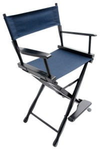 """Gold Medal 24"""" Black Classic Director's Chair ..."""