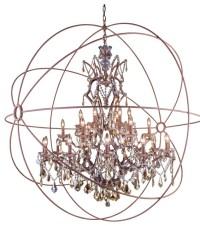 Elegant Lighting - Geneva Collection Pendent Lamp, Shade ...