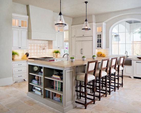 floor travertine shaped kitchen design ideas remodels photos type kitchen dining