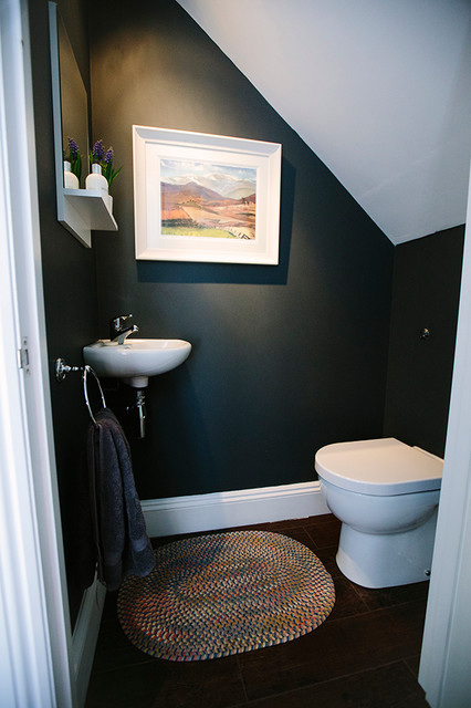 Under Stairs Toilet Contemporary Cloakroom London