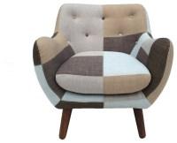 Naples Bridgewater Rustic Patchwork Chair - Midcentury ...