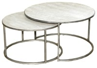 Hammary Silver Metal Round Nesting Coffee Tables ...