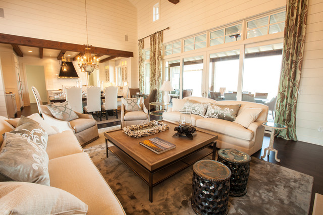 Texas Southern Living Showcase Home - southern living living rooms