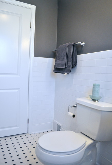 Bathroom Wainscoting Height Wc - Traditional - Bathroom - Philadelphia - By Trg Home