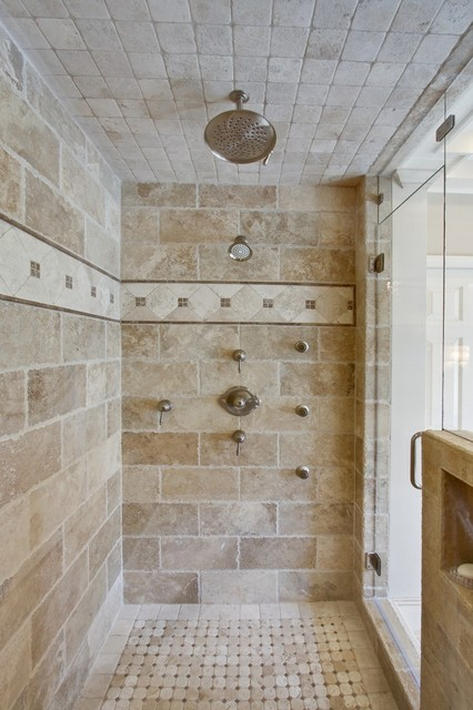 Houzz Showers Traditional Master Bathroom - Traditional - Bathroom