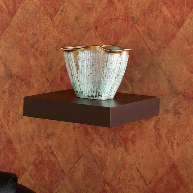 Upton Home Tampa 10 Inch Espresso Floating Shelf