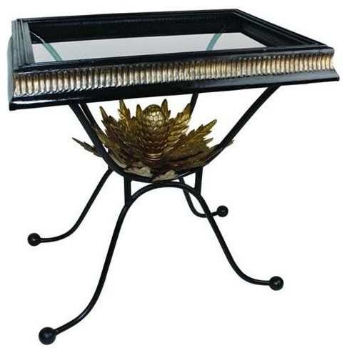 Black Iron Side Table by Dr Livingstone I Presume - Traditional