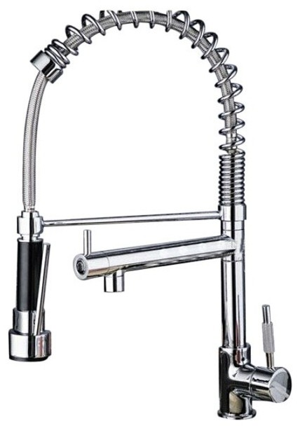 products kitchen kitchen fixtures kitchen faucets contemporary solid brass kitchen faucet chrome finish faucetsmall