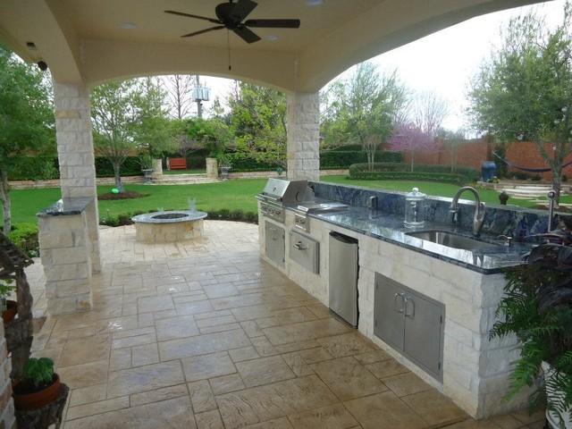 Summer Kitchen \ Fire Pit - Eclectic - Patio - Houston - by - summer kitchen design