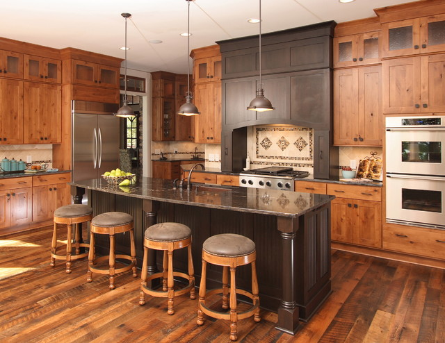 Lake House - Traditional - Kitchen - Raleigh - by Southern Studio - lake house kitchen ideas