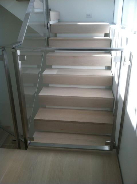 Modern Glass Child Gate Modern Staircase San