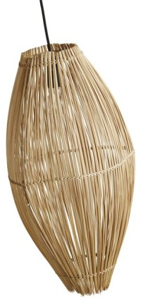 Bamboo Fish Trap Pendant - Tropical - Pendant Lighting ...
