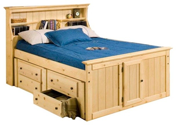 Lowell Bookcase Captain39s Bed Transitional Kids Beds
