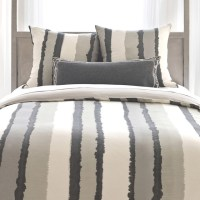 Pine Cone Hill Painted Stripes Linen Grey Duvet Cover ...