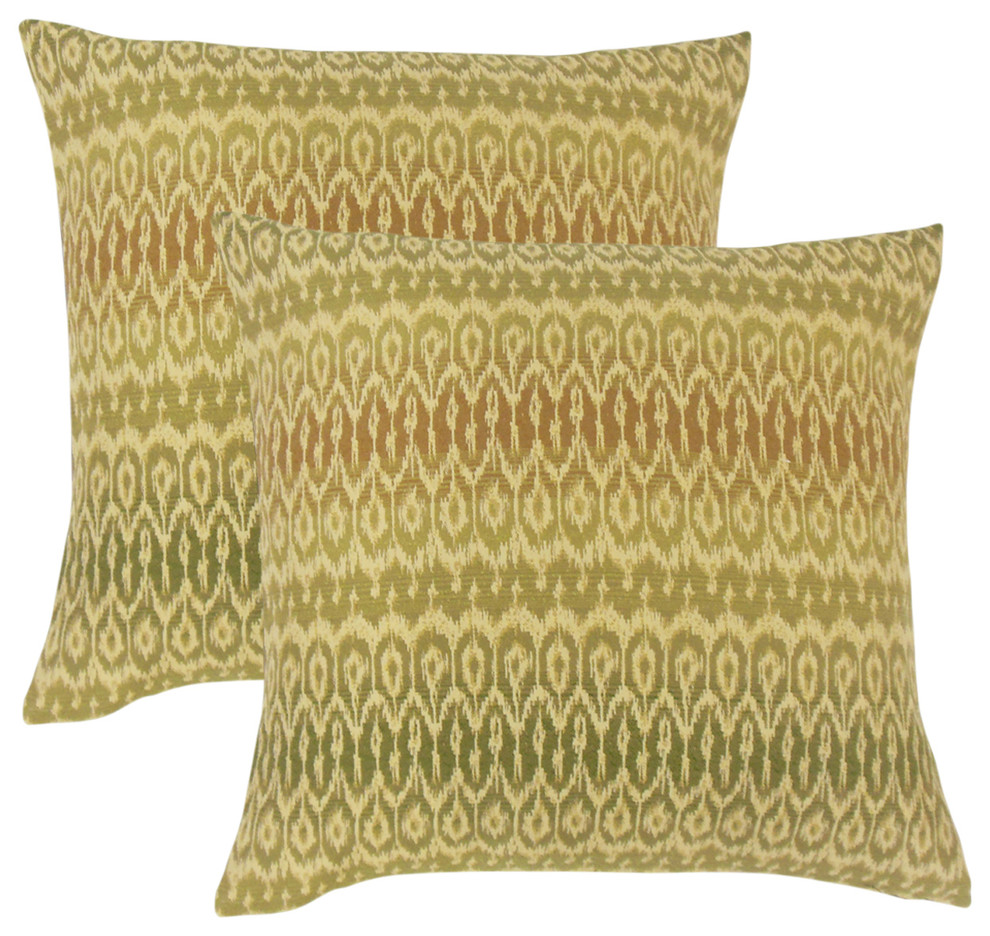 Dehateh Ikat Throw Pillows Set Of 2 Decorative Pillows By The Pillow Collection