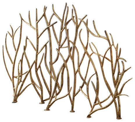 Aspen Fireplace Screen - Rustic - Fireplace Screens - by Dr