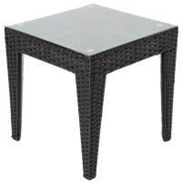 Providence Resin Wicker Patio End Table - Contemporary ...