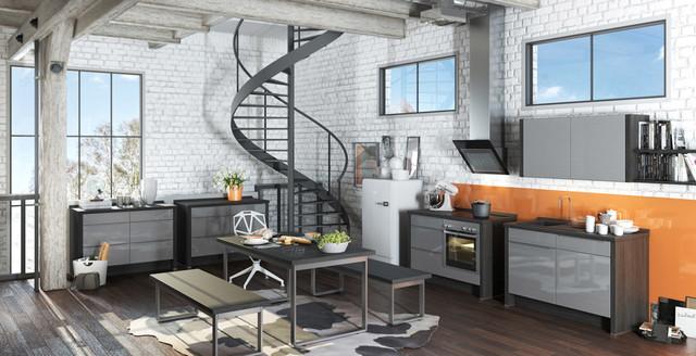 Schön Premium Design Küche Mit Modulen Eingerichtet   Minimalistisch   Minimalismus  Kueche Elegante Linien