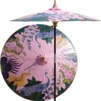 Peacock Garden Outdoor Patio Umbrella, Pristine Pink ...