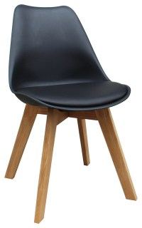 WHI Mid Century Modern Faux Leather Accent Chairs, Set of ...