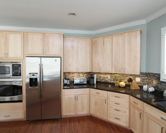 photos light wood cabinets multi colored backsplash double small eat kitchen design photos multi colored backsplash
