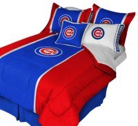 MLB Chicago Cubs Comforter Pillow Shams MVP Bed Set