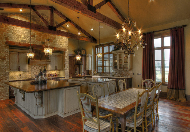 Large Mirrors Houston Ranch Home Rustic Kitchen Houston By Sweetlake