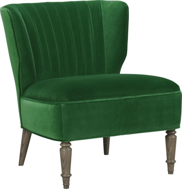 Arietta Chair Emerald Como Contemporary Armchairs