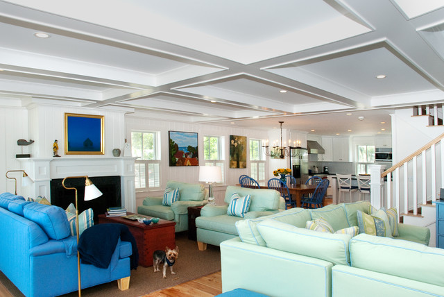 Provincetown Beach House - Beach Style - Living Room - Boston - by - beach house living room