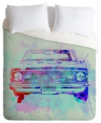 Naxart Chevy Camaro Watercolor 2 Duvet Cover ...