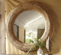 Beachcomber Round Seagrass Mirror - Traditional - by ...