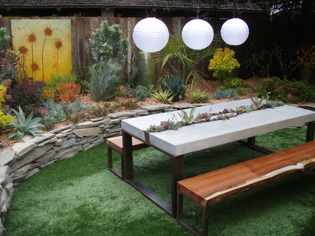 Concrete Succulent Table Benches Contemporary