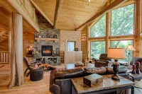 Refined Log Home - Rustic - Living Room - other metro - by ...
