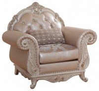 Marquee Pearl Leather Chair - Victorian - Armchairs And ...