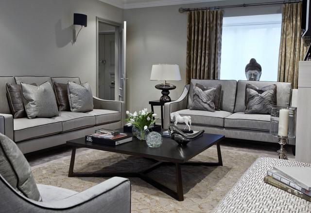 Upper Park - Contemporary - Living Room - London - by Boscolo - grey sofa living room ideas