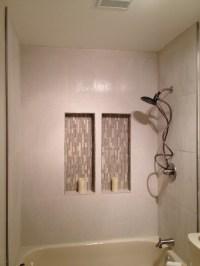 Stuck Mid-remodel guest bath - creme, almond, beige, white ...
