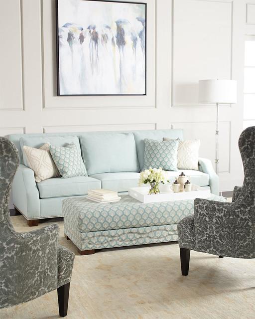 Sea Mist Sofa, Sea Mist Oversized Ottoman, \ Misty Tufted Chair - oversized living room sets