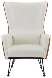 Mid-Century Faux Leather Armchair - Midcentury - Armchairs ...