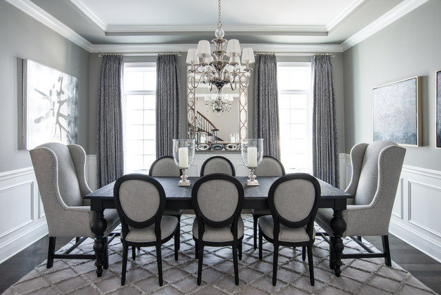 Beautiful Gray - Traditional - Dining Room - Chicago - by Kristin - Beautiful Dining Rooms
