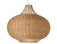 Wicker Pear Shaped Pendant Lamp, Extra Large - Tropical ...