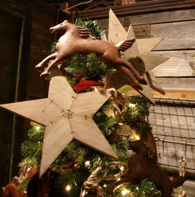 Western Christmas Decor - Rustic - Atlanta - by Iron Accents - western christmas decorations