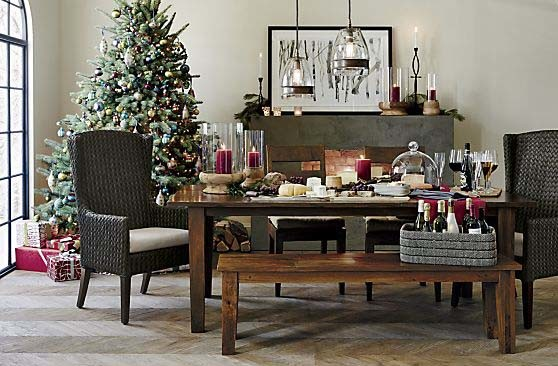 Crate and Barrel at the Holidays - crate and barrel living room