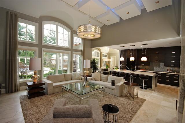 Old Oakville - Open Concept Living - Contemporary - Living Room - open concept living room