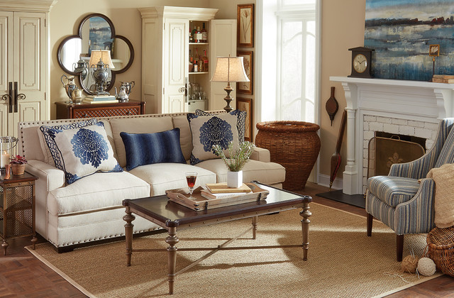Hayden Sofa - Living Room - Traditional - Living Room - Houston - living room furniture houston